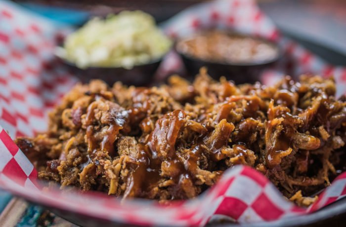 Old Fashioned BBQ Pulled Pork Platter