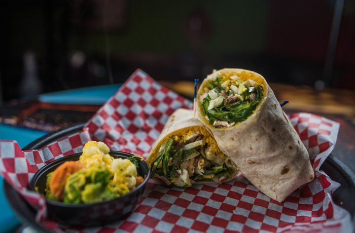 Crispy Chicken Spinach Wrap