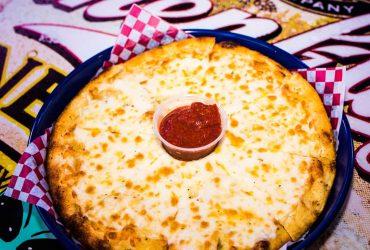 Cheesy Garlic Bread Pizza