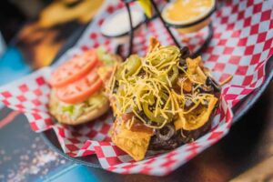 Planet of the Zombies Taco Burger