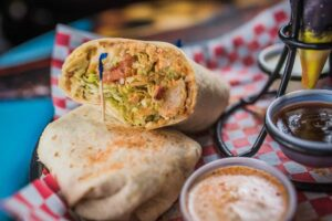 Cajun Ranch Chicken Wrap